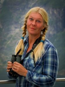 Här står jag ovanför vackra Geirangerfjorden i Norge, sommar 2013