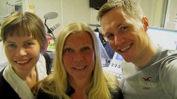 Fågelskådaren Gigi Sahlstrand besökte Vaken med Jenny & Peter
