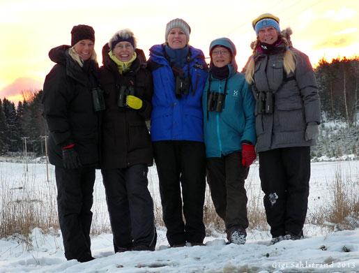 Lag Rapphönan. Angelica, Marianne, Eva J, Annika och jag.
