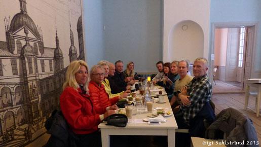 Genomgång och avslutning på Svartsjös slottscafé.
