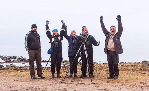 Vi kallar oss Nordsjöseminariet, ett glatt och go gäng fågelskådare från olika delar av Sverige.