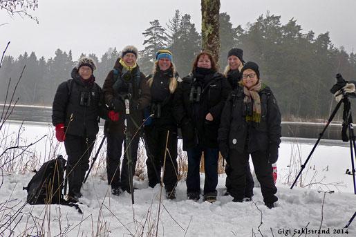 Skådargänget. Från vänster Annika, Marianne, Gigi, Sanja, Angelica och Lotten.