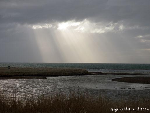 Dramatisk väder vid Nabben vid Falsterbo GK.