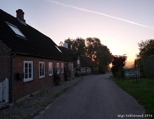 I danska byn Rudböl, som ligger precis vid gränsen till Tyskland, finns vandrarhemmet vi bodde på. Kvällsmaten åt vi alltid på tyska sidan.