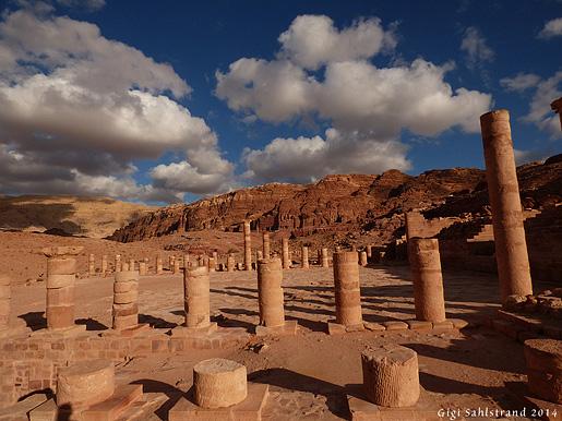 Gamla templet i Petra.